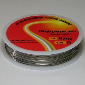 Nichrome 60 Resistance Wire 24 Awg gauge 100 Feet