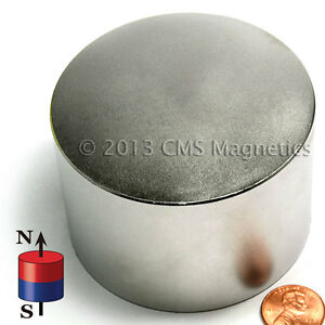 Cms Magnetics Super Powerful N45 Neodymium Disc Magnet 3 x 2 1 pc