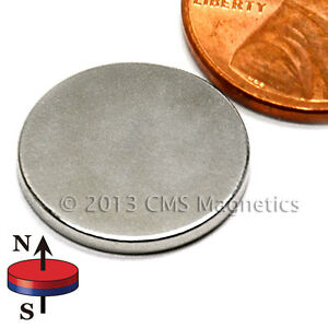 100 Count N45 Neodymium Magnets Dia 5 8x1 16 With 3m Adhesive On North