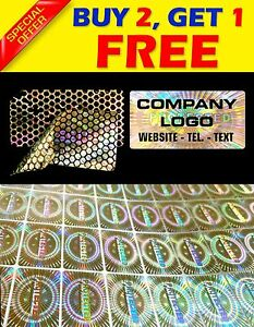360 Custom Print Hologram Sticker Label Void Security Warranty Seals 1 2 x0 6