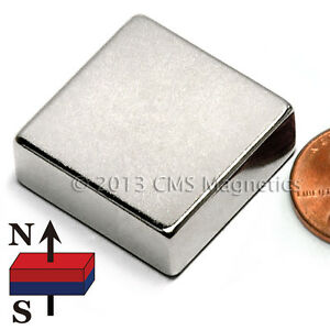 Cms Magnetics Powerful N42 Neodymium Block Magnet 1 x 1 x 3 8 12 pc