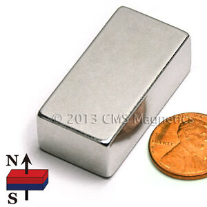 N42 Neodymium Magnets 1 5x3 4x1 2 Ndfeb Rare Earth Magnets 20 Pc