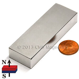 Neodymium Block Magnet N52 3x1x1 2 Strong Ndfeb Rare Earth Magnets 4 Pc
