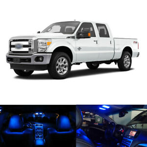 16x Blue Led Interior Package License Plate Lights For 1999 2016 Ford F250 F350