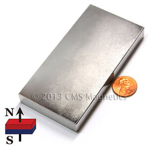 N42 4x2x1 2 Ndfeb Strong Neodymium Block Magnets 1 Pc