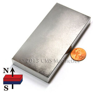 Strong Neodymium Block Magnet 4x2x1 2 Rare Earth Magnet 1 Pc