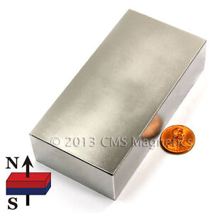 Neodymium Magnets Block N45 4x2x1 Ndfeb Super Strong Rare Earth Magnets 4 Pc