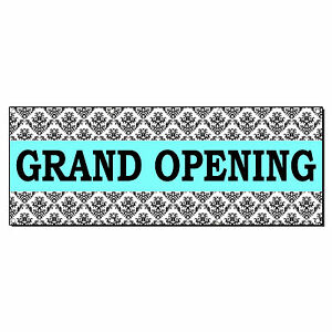 Grand Opening Turquoise Business 2 Ft X 4 Ft Banner Sign W 4 Grommets