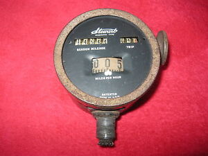 Vintage Antique Stewart Speedometer Car Truck Model T