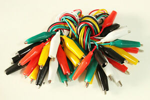 20pcs 19 Test Leads Set Jumper Wire With Alligator Clips us Free Shipping