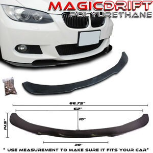 Fits 05 10 Bmw E90 E92 Poly Urethane Under Front Bumper Lip Spoiler Splitter