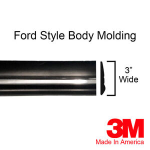 Ford 3 Chrome Side Body Trim Door Molding Rocker F150 Bronco 1 2 Roll 72
