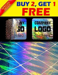 288 Custom Print Hologram Warranty Security Sticker Label Void Seals 1 x1
