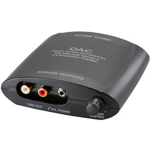 Digital To Analog Audio Converter Optical Coaxial Usb