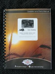 Unverferth 1315 1115 1015 Folding Grain Cart Operators Parts Manual Clean