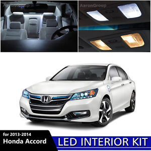 14pcs White Interior Led Light Bulbs Package Kit For 2013 2014 Honda Accord