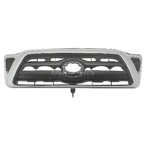 Front Grille Black Fits 2005 2010 Toyota Tacoma Pickup To1200268