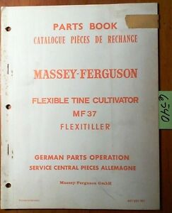 Massey Ferguson Mf 37 Flexible Tine Cultivator Flexitiller Parts Book Manual 64