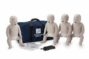4 pack Of Prestan Infant Cpr Manikins Light Tone Pp im 400 Cpr aed Mannequins