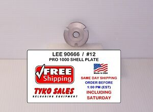 LEE 90666 * LEE PRO 1000 SHELL PLATE #12 * 22 PPC * 6MM PPC * 7.62x39MM * 90666