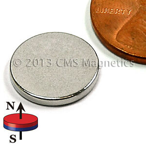 N45 Disc Neodymium Magnets Dia 1 2 x1 16 Ndfeb Rare Earth 1000 Pc