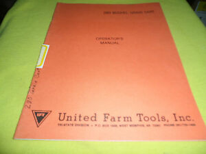 drawer 15 United Farm Tools 280 Bushel Grain Cart Operators Manual