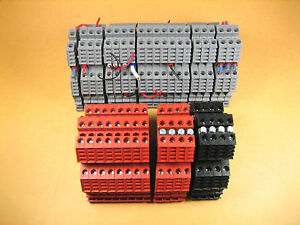 Euro D4 2 Terminal Block 3 Colors Black Red And Gray lot Of 37