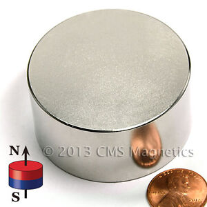 N52 Neodymium Magnets Dia 2 x1 Ndfeb Rare Earth Magnets 1 Pc