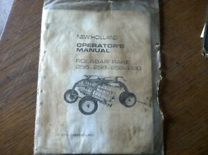 Original Vintage New Holland Rolabar Rake 256 258 259 260 Operatots Manual 535