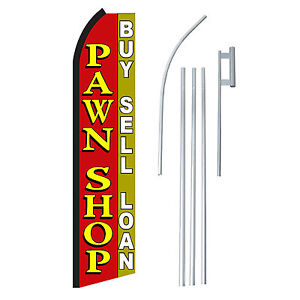 Pawn Shop 15 Complete Swooper Flag Starter Kit Bow Feather