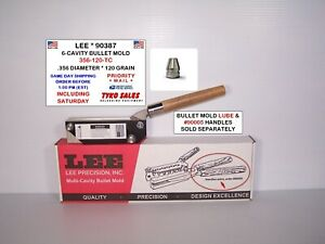 LEE 90387 * LEE 6-CAVITY BULLET MOLD * 356-120-TC * .356 DIA * 120 GR * 90387