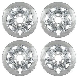 17 Chrome Wheel Skins Hubcaps Compatible With 2014 2015 Chevy Silverado 1500