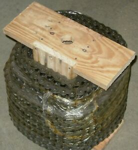 35 1r X 100ft Reel Riveted Roller Chain With 10 Connecting Links Free Shipping