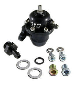 Aem Fuel Pressure Regulator 92 01 Honda Prelude 88 91 Civic Cr X 25 303bk