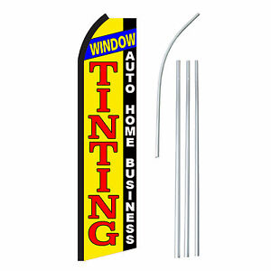 Window Tinting Advertising Sign Swooper Feather Banner Flag Pole Only