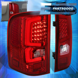 07 13 Silverado C steak New Generation Led Brake Stop Tail Lights Lamps Red Lens