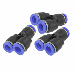 3 Pcs Y 8mm Quick Joint Air Pneumatic Push In Fittings