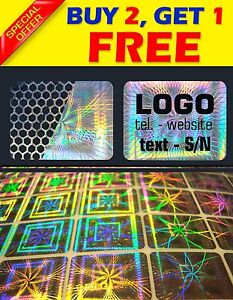 504 Custom Printed Hologram Void Sticker Label Security Warranty Seals 0 6 x0 8