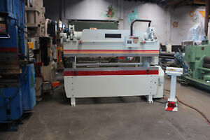 60 Ton X 8 Accurpress Cnc Hydraulic Press Brake Sheet Metal Bender 1999