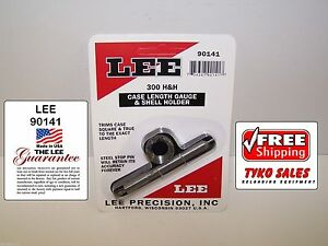 90141 * LEE PRECISION CASE LENGTH GAUGE & #5 SHELL HOLDER * 300 H&H * NEW!