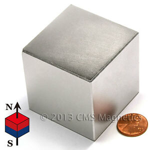 Cms Magnetics Incredibly Strong 484 Lb Pull N50 Neodymium Cube Magnet 2 1 pc