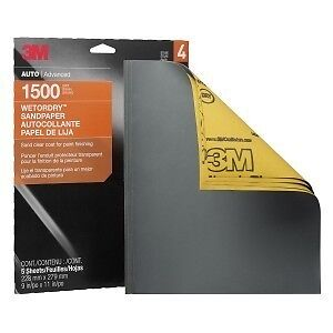 3m Sandpaper Wet Or Dry Sheets 1500 Grit 9 X 11 Inch 32023