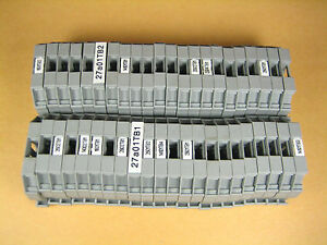 Wago 249 Terminal Block End Stop lot Of 44