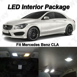 9 X White Smd Led Interior Lights Package Kit For Mercedes Benz Cla250 Cla45 Amg