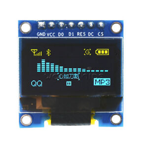 Yellow Blue 0 96 Spi Serial 128x64 Oled Lcd Led Display Module arduino