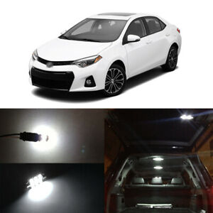 6x White Led Interior Map Dome License Plate Lights For 2001 2018 Toyota Corolla
