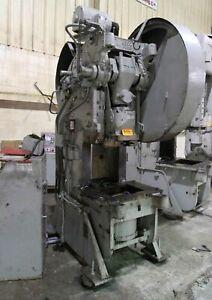 60 Ton Warco Obi Punch Press 6 Stroke 26 x 19 bed Hole Punching Forming Cushion