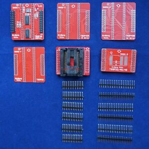 Sop44 Zif Tsop 32 40 48 Complete Adapter Set For Tl866 Programmer No Soldering