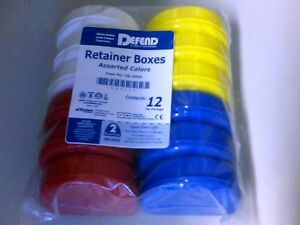 Oral Orthodontic Dental Defend Retainer Boxes Assorted Colors Ob 2000 12 Pack