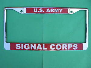 License Plate Frame us Army Signal Corps chrome 811031